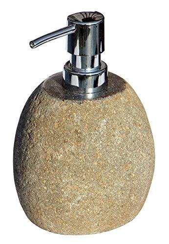 Schöner Fluss-Stein SEIFENSPENDER grau Bad Badezimmer Seife01