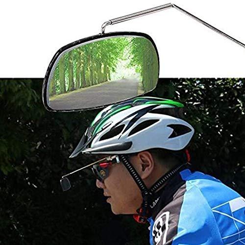 aolongwl Bicicleta espejo retrovisor bicicleta aleación de aluminio bicicleta bicicleta bicicleta ciclismo montar gafas vista trasera casco montaje gafas espejo ajuste trasero