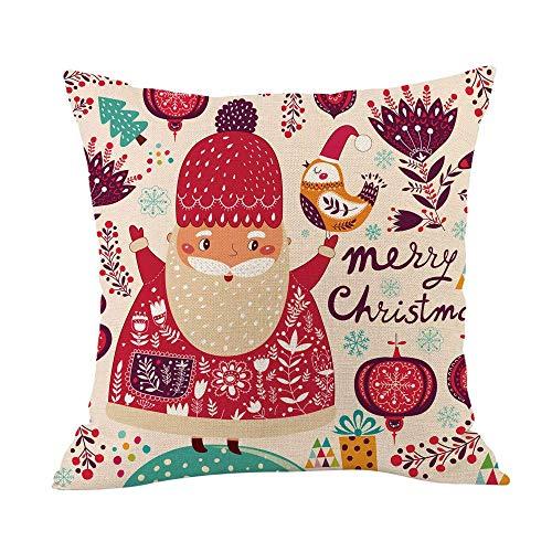 Pingrog Kerstmis super zacht werp pluizig hoeslaken huis eenvoudige stijl sofakussensloop moderne hoge bekleding katoen