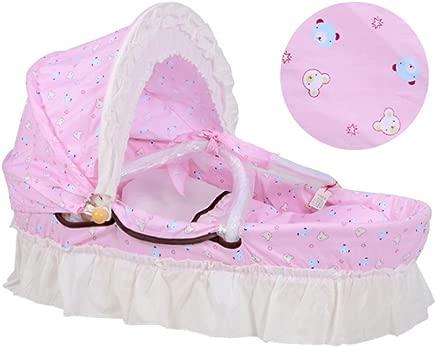 Babys Portable Bed Portable Corn Barn Rattan Infant Transporter Sleeping Basket Nursery Bassinets Newborn Bed Infant Bed Baby For 0-7 Months Babies Cots  Color C1  Size 50cm