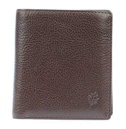 GOLUNSKI - Portafoglio da uomo in pelle morbida marrone o nero, per 6 carte di credito, con protezione RFID RF5 (marrone)