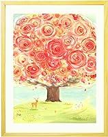 プレゼント お祝い 絵画アート 「いのちの樹」 【名前入れ可・Sサイズ】 新築祝い 花 感謝の贈り物 女性 品物 友人 母親 祖母 花束 フラワー ギフト