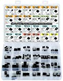 Power Transistor & Voltage Regulator, Mosfet, Thyristor Assortment Kit, 82 pcs, 24 Types, 78L05 L7805 L7905 LM317 TL431 MAC97A6 BTA06 TIP3c TIP41c TIP42c D882 BC140 IRF540 IRFZ44 TIP122 etc.