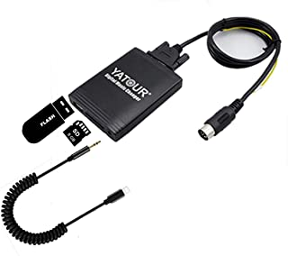 Volvo Stereo AUX Adapter, Digital Car Audio Input Interface with SD Card, MP3 USB, 3.5mm AUX in, Music Player for Volvo H...