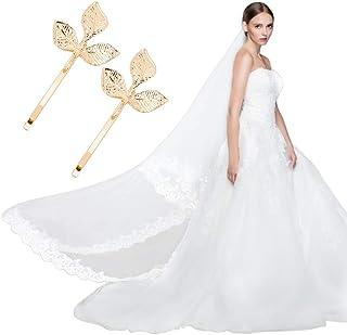 Sposa Abito da Sera Pizzo Bordo Ricamato Costume Nastro Floreale Velo Bordatura