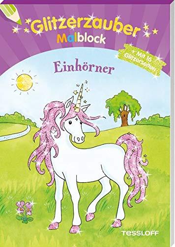 Glitzerzauber Malblock Einhörner (Malbücher und -blöcke)