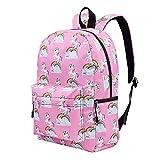 Holyeagle Mochila escolar Daypack de unicornio, regalo para niñas estrella talla unica (Rosa)