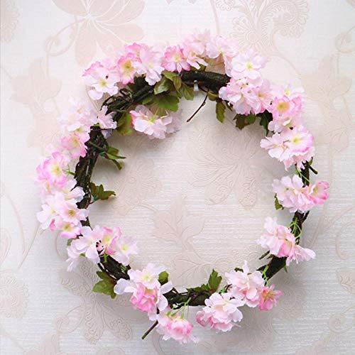 230cm zijde sakura kersenbloesem wijnstok lvy huwelijksboog decoratie lay-out home party rotan muur opknoping guirlande krans slingers, A31-2