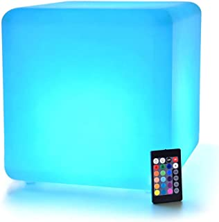 LED Cube: 12-inch LOFTEK Shape Light, Rechargeable and Cordless Decorative Light with 16 RGB Colors and Remote Control (Re...