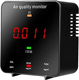Air Quality for CO2 HCHO TVOC AQI Professional Electrochemical Sensor Portable Real Time LED Display