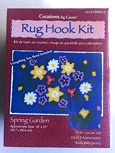 Creations by Caron Spring Garden Rug Hook Latch Kit 18