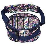 Clasken Bolsa de batería étnica, diseño de Bolsillo pequeño Externo Impermeable Detalles Elegantes Bolsa de batería para Exteriores para niños para Amantes de la música de percusión
