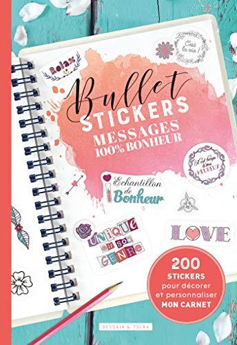 Bullet stickers Messages 100 % bonheur