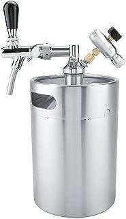 TOPINCN - Juego de dispensador de Cerveza portátil de Acero
