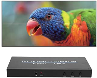 Bewinner1 LED Video Wall Controller, 2X2 HDMI Video Image Processor, 1080P Screen Splicing, HDMI1.3 Input, 4 HDMI Output S...