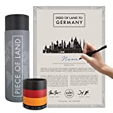 Piece of Land - Unique Gift from GERMANY - Sustainable, Unusual Gift for Family and Friends – Personalized Land Owner's Certificate – Special gifts for women and men - Berlin Souvenir
