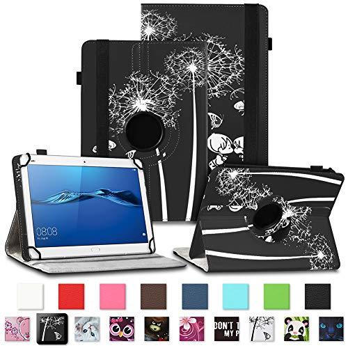 NAUC Tablet Tasche für Huawei Mediapad X2 Hülle Schutzhülle Cover Schutz Hülle Drehbar, Farben:Motiv 9