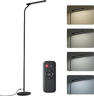 Lampadaire sur Pied Salon, Lampadaire LED Dimmable en 4 Températures de Couleur, Lampadaire Télécommande et Commande Tacti...
