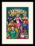 The Big Bang Theory 30 x 40 cm superhroes montado y impresin enmarcada