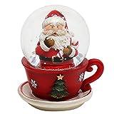 Bella palla di vetro con babbo natale e base a forma di tazza, circa 7 x 6 cm/ Ø 4,5 cm