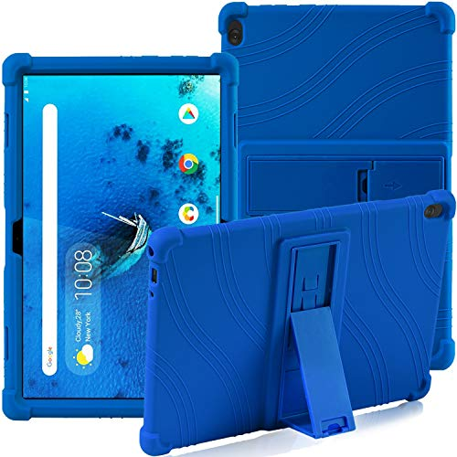 Lenovo Tab M10 TB-X505F TB-X605F TB-X705F 10.1-inch, ATOOZ PC Holder Tablet Silicone Case, All-inclusive Anti-drop For Lenovo Tab M10 Case(Blue)