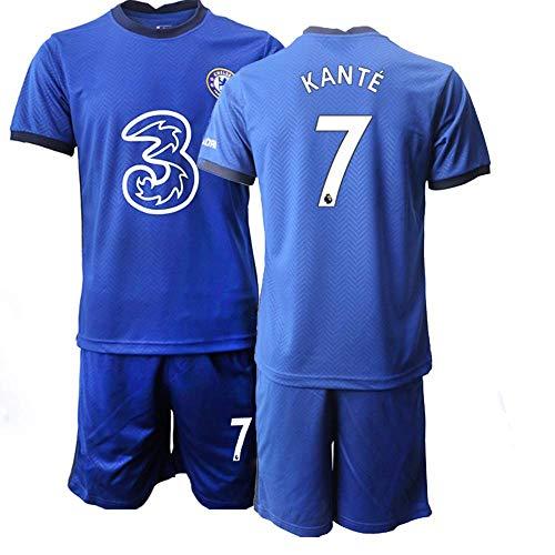 JEEG 20/21 Kinder KANTE 7# Fußball Trikot Jugend Trainings Anzug T-Shirt Set (Kinder Größe 4-13 Jahre) (20)
