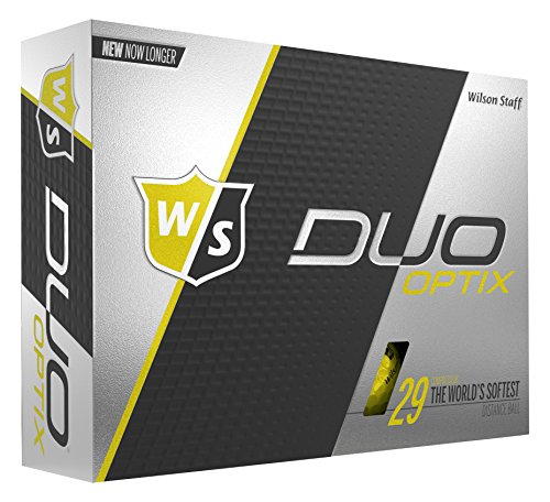 Wilson Staff DUO Optix Golf Ball, Soft, Yellow