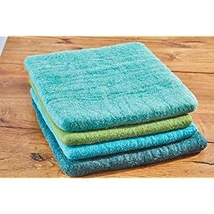 feelz – Sitzkissen aus Filz, 35x35cm, blau, grün, Filzkissen, Stuhlkissen, Wolle, Handarbeit, 2,5 cm dick – Fairtrade