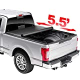 HAIHUA 5.5' Soft Rollup Tonneau Cover, for 2004-2014 F-150 2006-2008 Mark LT (Styleside) Truck Bed