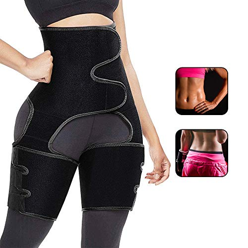Taillen Trimmer, 3 in 1 Taillentrainer, Oberschenkel Trimmer, verstellbarer 3-in-1-Trainer-Gürtel für Frauen zur Unterstützung des Taillen-Sports, Body Shaper Weight Loss Compression Fitness -XL