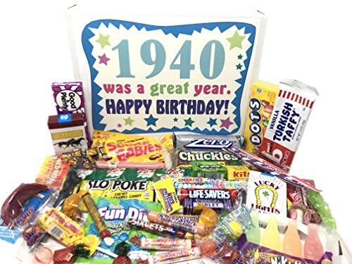 1940 Was a Great Year Vintage Candy Gift Basket
