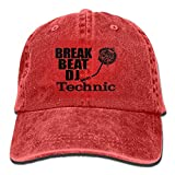 Photo de LLALUA Break Beat DJ Technic Denim Hat Adjustable Men's Dad Baseball Cap par
