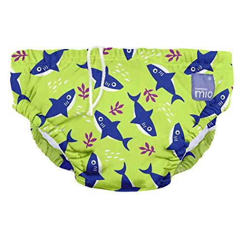 Bambino Mio SWPM SHA , Wiederverwendbare Schwimmwindel, Neon Haifisch, M (6-12 Monate), mehrfarbig