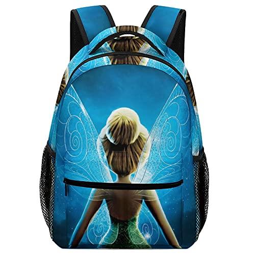 Tinker Bell - Mochila de escolar, diseño de elfo pirata para niños de alta capacidad para estudiantes de primaria y secundaria, ultraligera y con múltiples compartimentos
