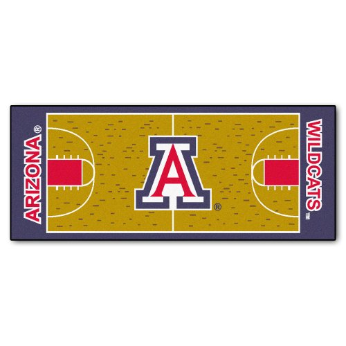 Fanmats NCAA University of Arizona Wildcats Nylongesicht Basketball Court Runner