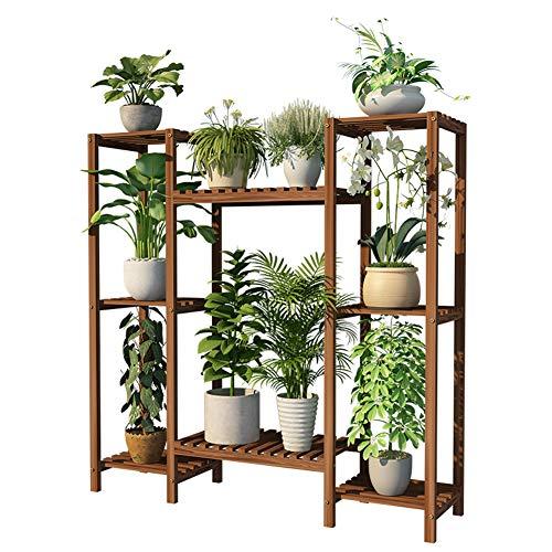 ZHEYANG Soporte para plantas de varias capas de flores, estante de madera para exteriores, soporte de maceta, estante de almacenamiento multifunción, regalo para esposa