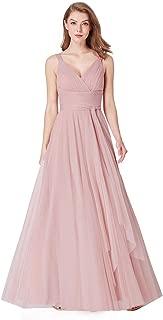 Ever-Pretty Women's Sleeveless V Neck A Line Floor Length Long Bridesmaid Evening Dresses EP07303