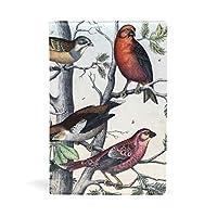 ブックカバー 文庫 a5 皮革 レザー 美しい鳥柄 桜の実 文庫本カバー ファイル 資料 収納入れ オフィス用品 読書 雑貨 プレゼント