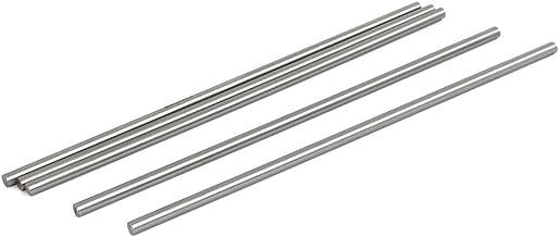 uxcell 5mm Dia 200mm Length HSS Round Shaft Rod Bar Lathe Tools Gray 5pcs
