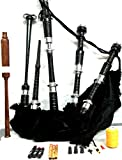 Bagpipes Starter Kit with Tutor Book Practice chanter for beginner