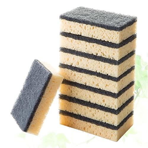 1 6PCS Almohadillas de acoplamiento multiusos Limpieza sin rasguños Utensilios Utensilios de utensilios de cocina de doble lado Sponge para baño de cocina (negro) (Color : Black)