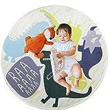 Alfombra Infantil, 120cm Alfombra de juegos para niños Tapete de Juego de Dinosaurio para Habitación de Niños - Regalo Ideal para Bebé