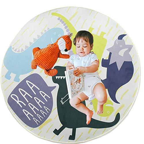 Krabbeldecke Rund, 120cm Kinderteppich Dinosaurier Baby Spielzeug Teppich Matte Baby Kinderteppich Mat Ideal fürs Kinderzimmer