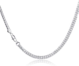 "Men Fashion 5mm 20"" 925 Sterling Silver Twisted Singapore Chain Necklaces Jewelry"