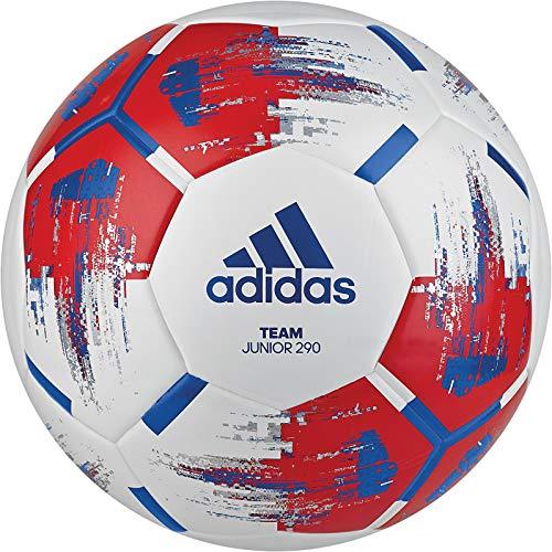 adidas Jungen Team J290 Turnierbälle für Fußball, White/red/Blue/Silver met, 4