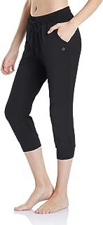 TSLA Loungewear Women's Bermuda/Jogger Capri Comfy Soft Peachskin Leisure Casual Yoga Active with Pockets