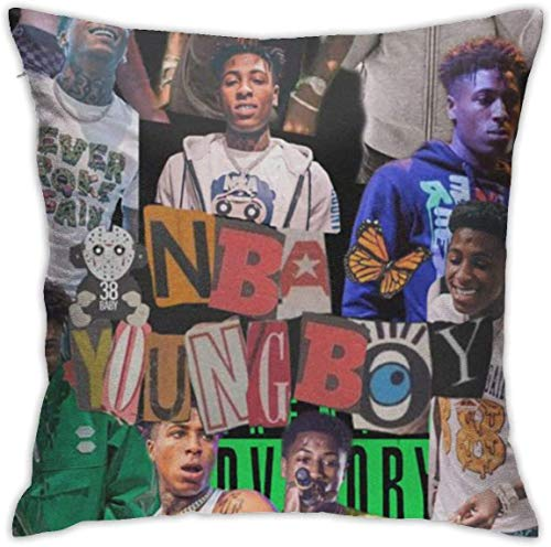'N/A' OMAJIG NBA YoungBoy Pillow Covers Pillow Cases Indoor Outdoor