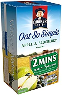 Quaker Oat So Simple Apple & Blueberry - 10 x 36g