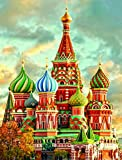 DIY Handwork Store Russian Castle Handmade Full Round with AB Drills Diamond Painting Kits Cross Stitch Embroidery Mosaic Pictures Rhinestones Arts Crafts Home Decor(15.7'x 19.7'')