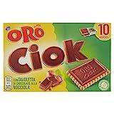 Oro Saiwa Biscotti Ciok con Tavoletta di Cioccolato alla nocciola, 250 g...